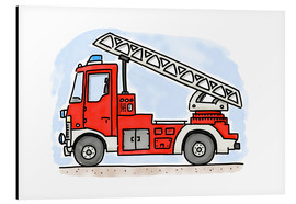 Hugos Illustrations - Hugos fire department cart