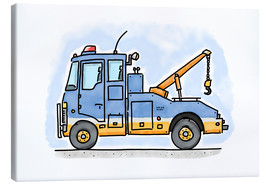 Canvas  Hugos tow truck - Hugos Illustrations