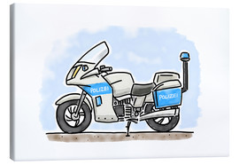 Canvas  Hugos police motorcycle - Hugos Illustrations