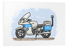 Foam board print  Hugos police motorcycle - Hugos Illustrations