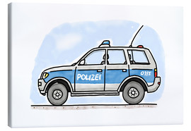 Canvas  Hugos police car - Hugos Illustrations
