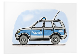 Foam board print  Hugos German police car - Hugos Illustrations