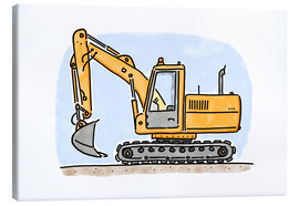 Canvas  Hugos digger - Hugos Illustrations