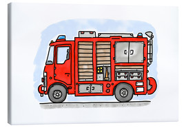 Canvas  Hugos fire department emergency vehicle - Hugos Illustrations