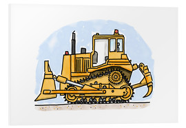 Foam board print  Hugos bulldozer - Hugos Illustrations