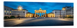 Acrylic print  The Brandenburg Gate at night, Berlin, Germany - Jan Christopher Becke