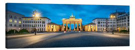 Canvas print  The Brandenburg Gate at night, Berlin, Germany - Jan Christopher Becke
