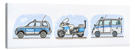 Canvas print  Hugos police set of 3 - Hugos Illustrations