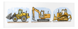 Forex  Hugos construction site 3-piece set - Hugos Illustrations
