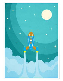 Premium poster  Rocket launch into space - Durro Art