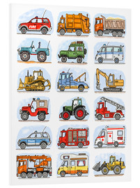 Foam board print  All my cars - Hugos Illustrations