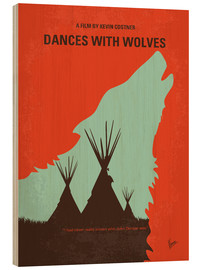 Wood print  Dances with Wolves - chungkong