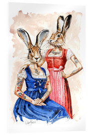Acrylic print  Cute Lady-Bunnys - Peter Guest