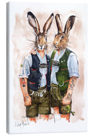Canvas print  Gay Rabbits - Peter Guest