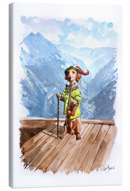 Canvas print  Dachshund in the Alps - Peter Guest
