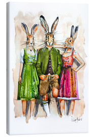 Canvas print  Dude Rabbit & Bunnies - Peter Guest