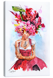 Canvas print  Flowers in hair - Peter Guest