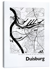 Canvas print  City map of Duisburg - 44spaces