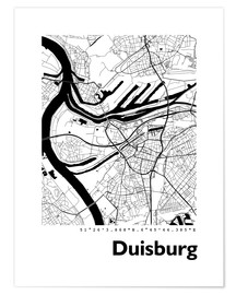 Premium poster  City map of Duisburg - 44spaces