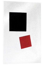 Acrylic print  Black Square and Red Square - Kasimir Sewerinowitsch  Malewitsch