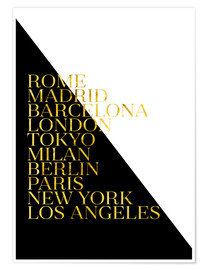 Premium poster Metropolises black and white