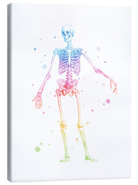 Canvas  Rainbow skeleton - Mod Pop Deco