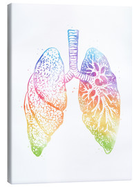 Canvas print  Human Lungs - Mod Pop Deco
