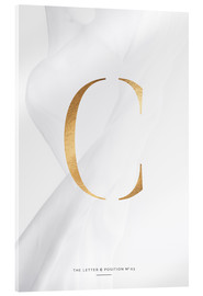 Acrylic print  GOLD LETTER COLLECTION C - Stephanie Wünsche