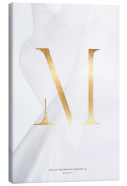 Canvas print  GOLD LETTER COLLECTION M - Stephanie Wünsche