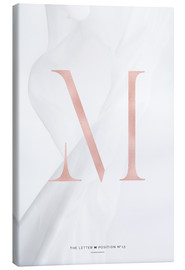 Canvas print  ROSEGOLD LETTER COLLECTION M - Stephanie Wünsche