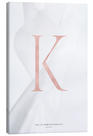 Canvas print  ROSEGOLD LETTER COLLECTION K - Stephanie Wünsche