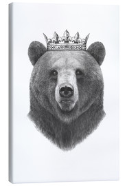 Canvas print  King bear - Valeriya Korenkova
