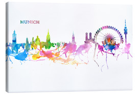 Canvas print  Skyline MUNICH Colorful Silhouette - M. Bleichner