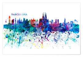 Premium poster Skyline of Barcelona