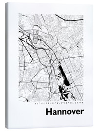 Canvas  City map of Hannover - 44spaces