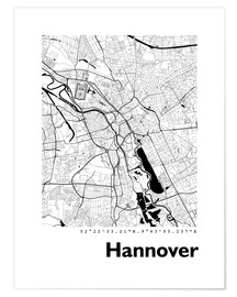 Premium poster  City map of Hannover - 44spaces