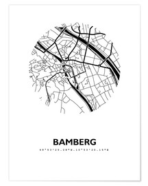 Premium poster  City map of Bamberg - 44spaces