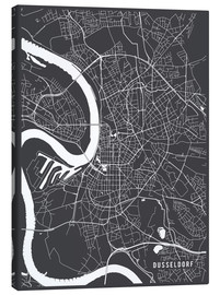 Canvas print  Dusseldorf Germany Map - Main Street Maps