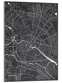 Acrylic print  Berlin Germany Map - Main Street Maps
