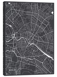 Canvas print  Berlin Germany Map - Main Street Maps