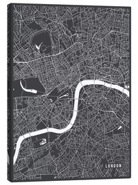 Canvas  London England Map - Main Street Maps
