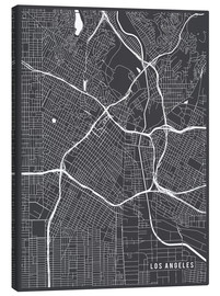 Canvas  Los Angeles USA Map - Main Street Maps