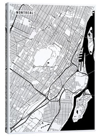 Canvas print  Montreal Canada Map - Main Street Maps