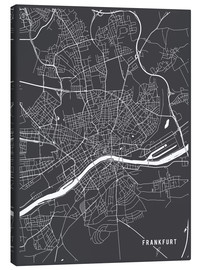 Canvas print  Frankfurt Germany Map - Main Street Maps