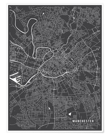 Premium poster Manchester England Map
