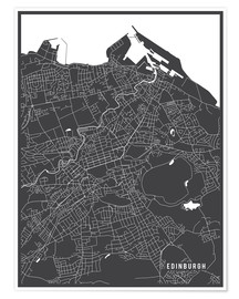 Premium poster  Edinburgh, Scotland Map - Main Street Maps