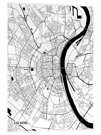 Acrylic print  Cologne Germany Map - Main Street Maps