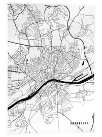 Acrylic print  Frankfurt Germany Map - Main Street Maps