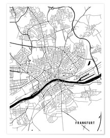 Premium poster  Frankfurt Germany Map - Main Street Maps