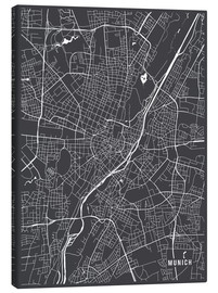 Canvas print  Munich Germany Map - Main Street Maps